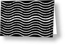 Black And White Postage Greeting Card