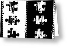 Black And White Puzzles Digital Painting Greeting Card