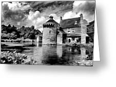 Scotney Castle In Mono Greeting Card