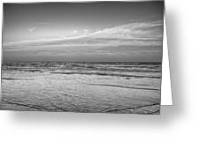 Black And White Seascape Greeting Card
