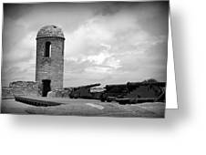 Black And White Sentinel Greeting Card
