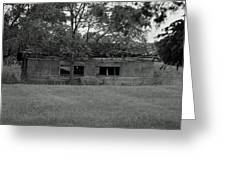 Black And White Shed Greeting Card