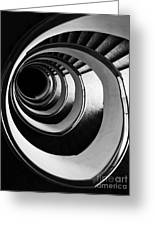 Black And White Spirals Greeting Card