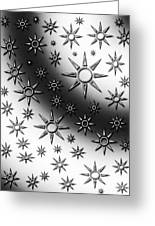 Black And White Suns Greeting Card