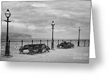 Black And White Swanage Pier Greeting Card