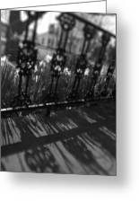 Black And White Wrought-iron Porch Greeting Card