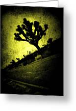 Black And Yellow Joshua Tree Poster Greeting Card