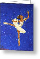 Black Ballerina Greeting Card
