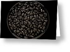 Black Beans In Bowl Greeting Card