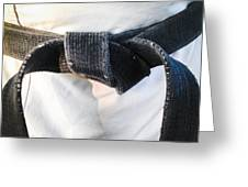 Black Belt Greeting Card
