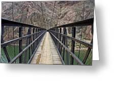 Black Bridge Greeting Card