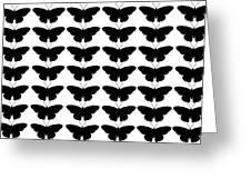 Black Butterflies Greeting Card