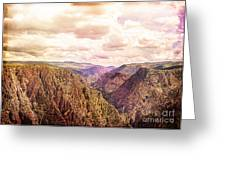 Black Canyon Colorado Greeting Card