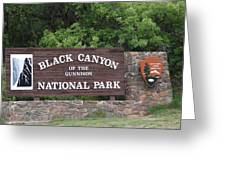 Black Canyon Of The Gunnison National Park Greeting Card