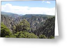 Black Canyon Of The Gunnison Panorama Greeting Card