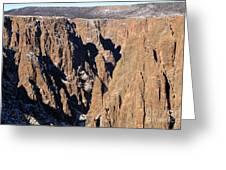 Black Canyon Pinnacles Greeting Card