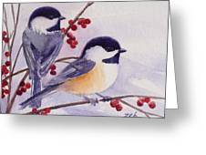 Black-capped Chickadees Greeting Card