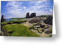 Black Castle Panorama Greeting Card