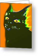 Black Cat 3 Greeting Card