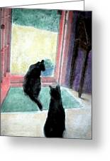 Black Cats Greeting Card