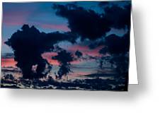 Black Clouds Against Sunset Greeting Card
