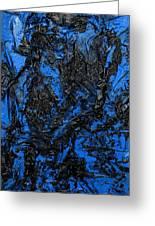 Black Cracks With Blue Greeting Card
