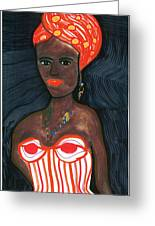 Black Diva Greeting Card by Don Koester