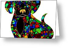 Black Dog 2 Greeting Card