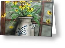 Black Eyed Susan Greeting Card by Kendra Sorum