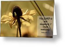 Black-eyed Susan  Psalm Greeting Card