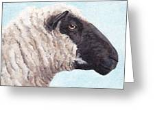 Black Face Sheep Greeting Card