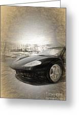Black Ferrari Greeting Card