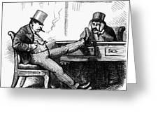 Black Friday Cartoon, 1873 Greeting Card