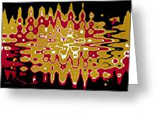 Black Gold Abstract Greeting Card