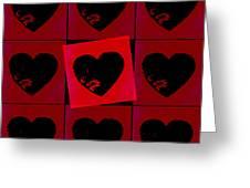 Black Hearts Greeting Card