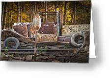 Black Hills Gold Truck Sign Greeting Card