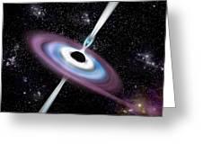 Black Hole 1a Greeting Card by Marc Ward