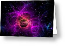Black Hole In Space Greeting Card