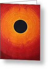 Black Hole Sun Original Painting Greeting Card