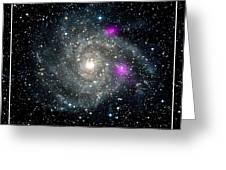 Black Holes In Spiral Galaxy Nasa Greeting Card by Rose Santuci-Sofranko