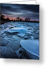 Black Ice Greeting Card