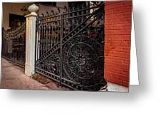 Black Iron And Red Brick Greeting Card