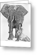 Black Ivory Greeting Card