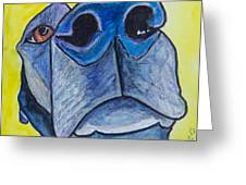 Black Lab Nose Greeting Card by Roger Wedegis
