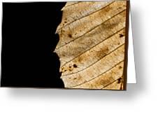 Black Leaf Greeting Card