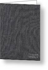 Black Linen Texture Greeting Card