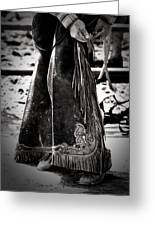 Black N White Chaps Greeting Card