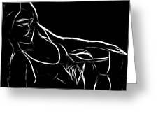 Black Passion Greeting Card