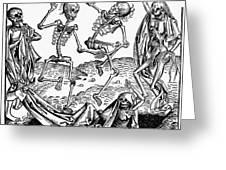 Black Plague, 1493 Greeting Card