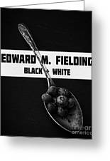 Black Plus White Book Cover Greeting Card